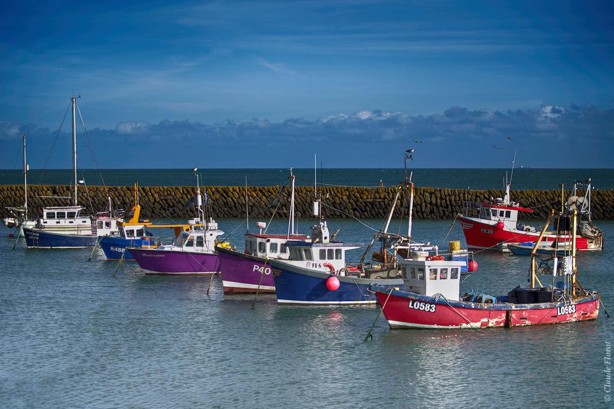 Petit port de pêche anglais dans la Manche