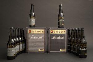 Campagne publicitaire pour présenter la bière Marshall et son emballage