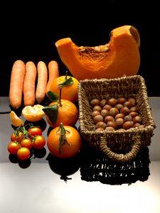 Couleur orange et marron